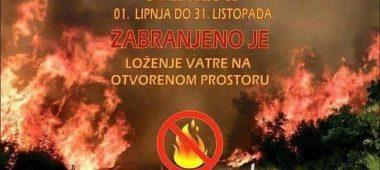 Zabrana loženja vatre na otvorenom prostoru